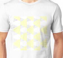 Yellow White Marble Triangles Unisex T-Shirt