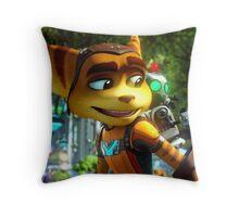 RATCHET CLANK RABU BEST Throw Pillow