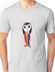 Penguin Floating Rainbow Unisex T-Shirt