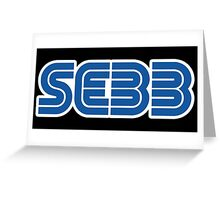 SEBB STRIFE SEGA LOGO Greeting Card