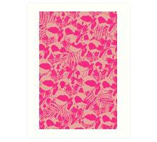 Neon Jungle in Pink Art Print
