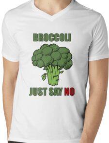 Broccoli: just say no Mens V-Neck T-Shirt