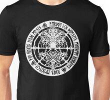 Runic Yggdrasil (inverse)  Unisex T-Shirt