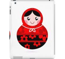 Traditional russian Matrioshka dolls : red and black iPad Case/Skin