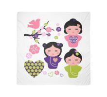 Little love Geishas, love design elements Scarf