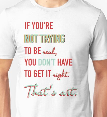 Quote Andy Warhol 2 Unisex T-Shirt