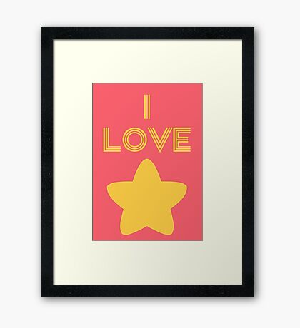 I Love Steven Framed Print