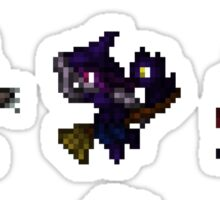 Halloween Monsters Pixel Art Sticker