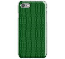 Neon Green and Black Hex Hexagonal Carbon Fiber Matrix iPhone Case/Skin