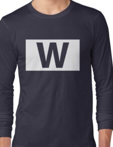 Chicago Cubs Majestic W Flag Long Sleeve T-Shirt