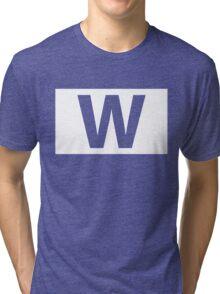 Chicago Cubs Majestic W Flag Tri-blend T-Shirt