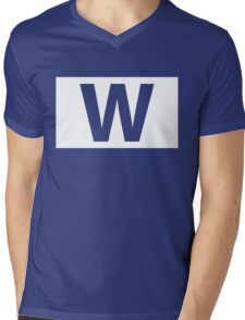 Chicago Cubs Majestic W Flag Mens V-Neck T-Shirt
