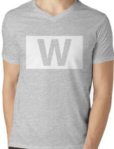 Chicago Cubs Majestic W Flag Mens V-Neck T-Shirt