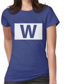 Chicago Cubs Majestic W Flag Womens Fitted T-Shirt