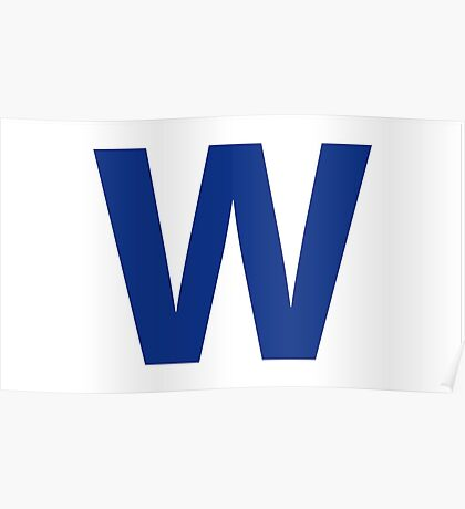 Chicago Cubs Majestic W Flag Poster