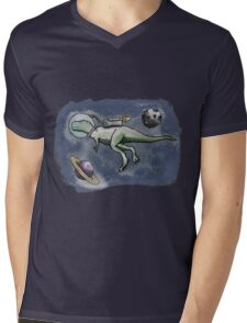 A Space Dinosaur - Colour Mens V-Neck T-Shirt