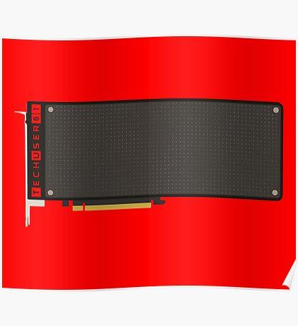 Radeon Pro Duo Minimalist Poster