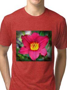 Vibrant Red Lily Tri-blend T-Shirt