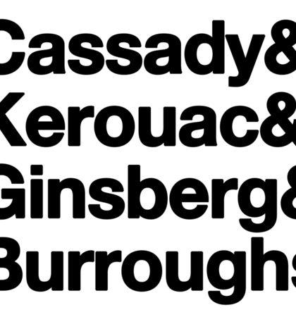 Beatnik Elders - Cassady& Kerouac& Ginsberg& Burroughs Sticker