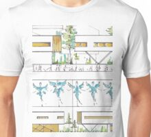 Modern Architectural Sketch Unisex T-Shirt