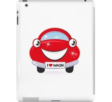 Car wash - happy red cartoon automobile iPad Case/Skin