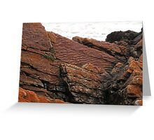 Unusual Rocks, Arthur River, Northwest Tasmania, Australia. Greeting Card