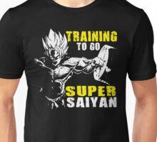 Training To Go Super Saiyan (Goku Hardcore Squat) Unisex T-Shirt