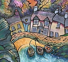 Little Haven, boats, West Wales by Dorian Davies