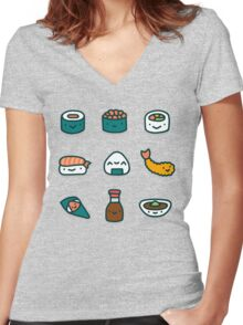 Sushi Lover Women's Fitted V-Neck T-Shirt