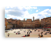 All About Italy. Piece 13 - Piazza del Campo in Siena Canvas Print