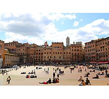 All About Italy. Piece 13 - Piazza del Campo in Siena Photographic Print