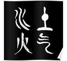 Avatar TLA Elements Symbols Poster