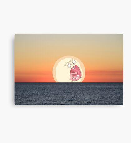 Screaming Sunset Canvas Print