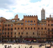 All About Italy. Piece 13 - Piazza del Campo in Siena Sticker