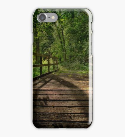 Bridge Over The Woodland River iPhone Case/Skin