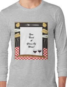 Glass Of Wine Long Sleeve T-Shirt