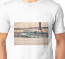Aida and Lisbon bridge. Unisex T-Shirt