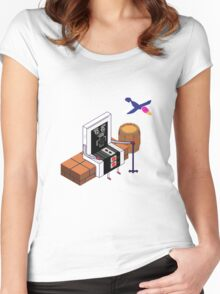 Old Nintendo Women's Fitted Scoop T-Shirt