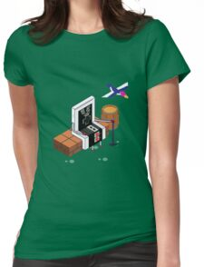 Old Nintendo Womens Fitted T-Shirt