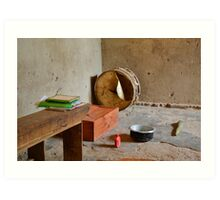 tool in the african hut Art Print