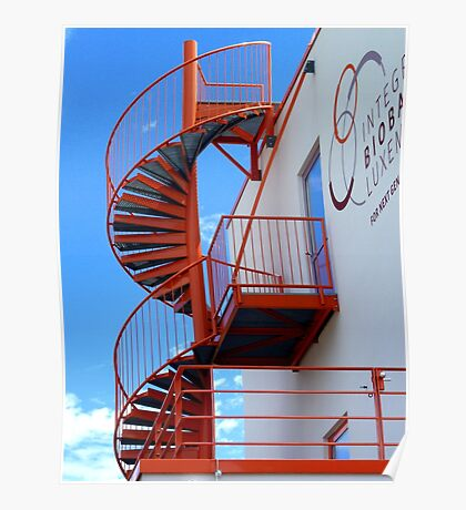 The orange spiral stair 1 Poster