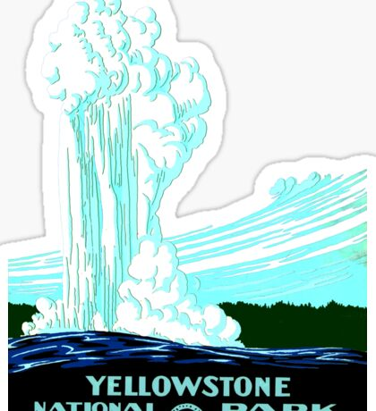 Vintage Yellowstone National Park Geyser WPA Sticker