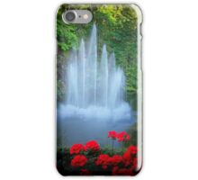 BUTCHART GARDENS WATERFALL iPhone Case/Skin