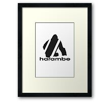 Harambe x Adidas Framed Print