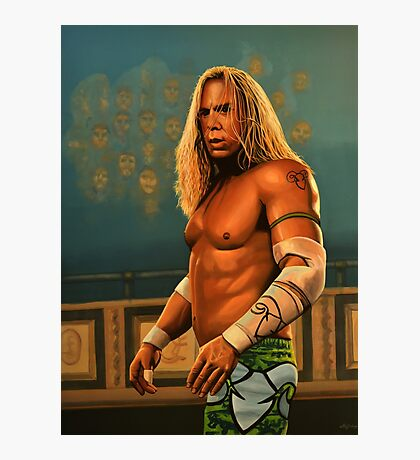 Mickey Rourke as The Wrestler Painting Photographic Print