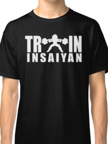 TRAIN INSAIYAN - Vegeta Squat Silhouette (White Print) Classic T-Shirt