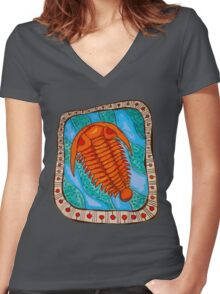Trilobite Fossil  Women's Fitted V-Neck T-Shirt