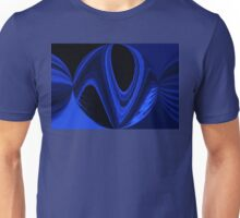 Blue Black Round Unisex T-Shirt