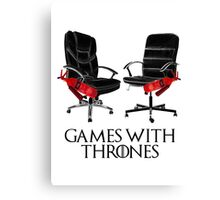 Games with Thrones Canvas Print