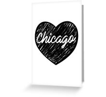 I Love Chicago - I Heart CHI TOWN (Cursive) Greeting Card
